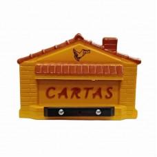 1384 - CAIXA CORREIO PVC CASINHA AMARELA