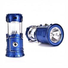 3769 - LANTERNA LAMPIAO SOLAR/LED AZUL RECARREG