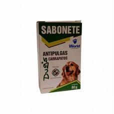 3205 - SABONETE ANTI PULGAS CARRAPATOS 80G DUGS