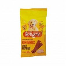 9406 - BIFINHO BARRA CAO BONGOS FRANGO 65G
