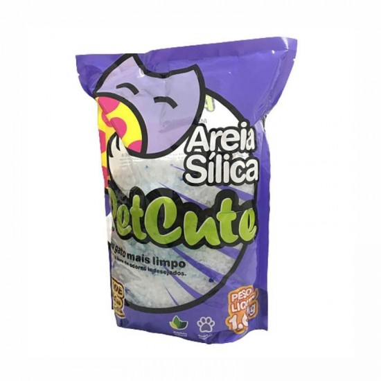 AREIA P/GATO SILICA PETCUTE 1,6KG