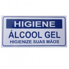 7355 - PLACA SINALIZ ALCOOL GEL 10X20