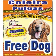 3945 - COLEIRA ANTI PULGAS FREE DOG ADULTO 45CM