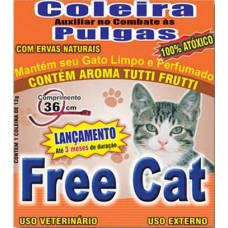 3947 - COLEIRA ANTI PULGAS FREE CAT GATO 36CM