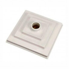 6470 - PLAFON BRANCO PVC QUADRADO C/SOQUETE E27