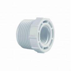 1302 - BUCHA BRANCA ROSCAVEL PLAST 3/4X1/2 C/10