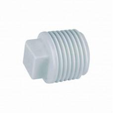 876 - PLUG BRANCO ROSCAVEL PLAST 3/4 C/10