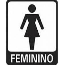 4664 - PLACA SINALIZ FEMININO 15X20