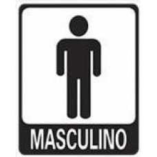 4665 - PLACA SINALIZ MASCULINO 15X20CM
