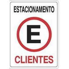 4653 - PLACA SINALIZ ESTACION CLIENTES 20X30