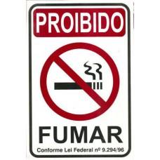 4452 - PLACA SINALIZ PROIBIDO FUMAR 15X20