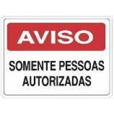 4661 - PLACA SINALIZ AVISO SOMENT PESSOAS 20X30