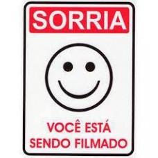 4464 - PLACA SINALIZ SORRIA VOCE P 15X20