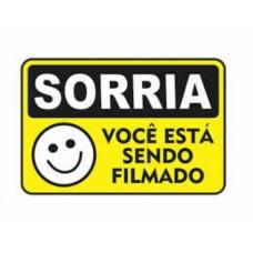 4463 - PLACA SINALIZ SORRIA VOCE G 20X30