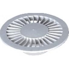 1162 - GRELHA PLASTICA REDONDA BRANCA 100MM C/6