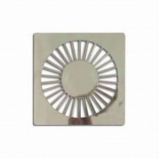 5708 - GRELHA PLAST QUADRADA CROM 150MM C/6