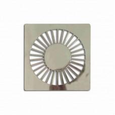 5706 - GRELHA PLAST QUADRADA CROM 100MM C/6