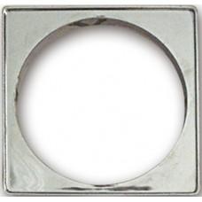 5710 - PORTA GRELHA PLAST QUADR CROM 100MM C/6