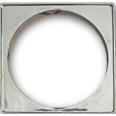 5703 - PORTA GRELHA PLAST QUADR CROM 150MM C/6