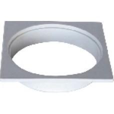 1165 - PORTA GRELHA PLAST QUAD BRANCO 150MM C/5