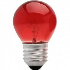 511 - LAMPADA BOL 15WX127 VERMELHA E27