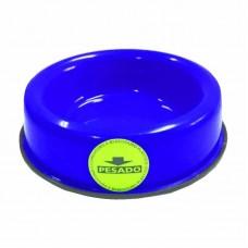 8236 - COMEDOURO PLAST PESADO 150ML AZUL